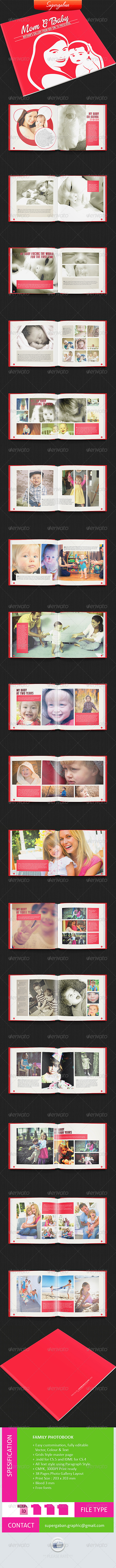 Family Album - Photo Albums Print Templates