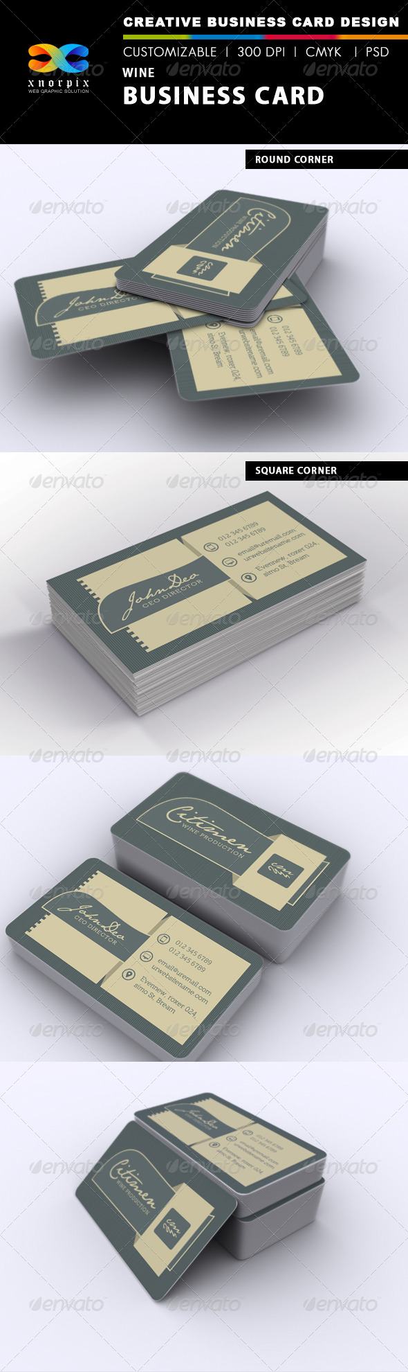 Wine Business Card - Corporate Business Cards