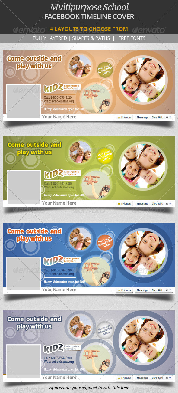 Multipurpose School Facebook Timeline Cover - Facebook Timeline Covers Social Media