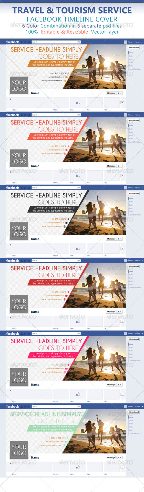 Travel & Tourism Service Facebook Timeline Cover - Facebook Timeline Covers Social Media