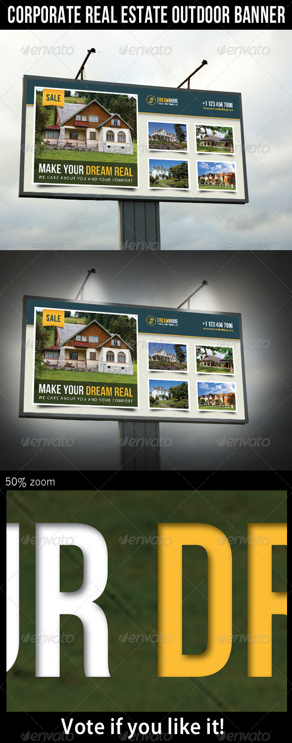 Real Estate Outdoor Banner 03 - Signage Print Templates