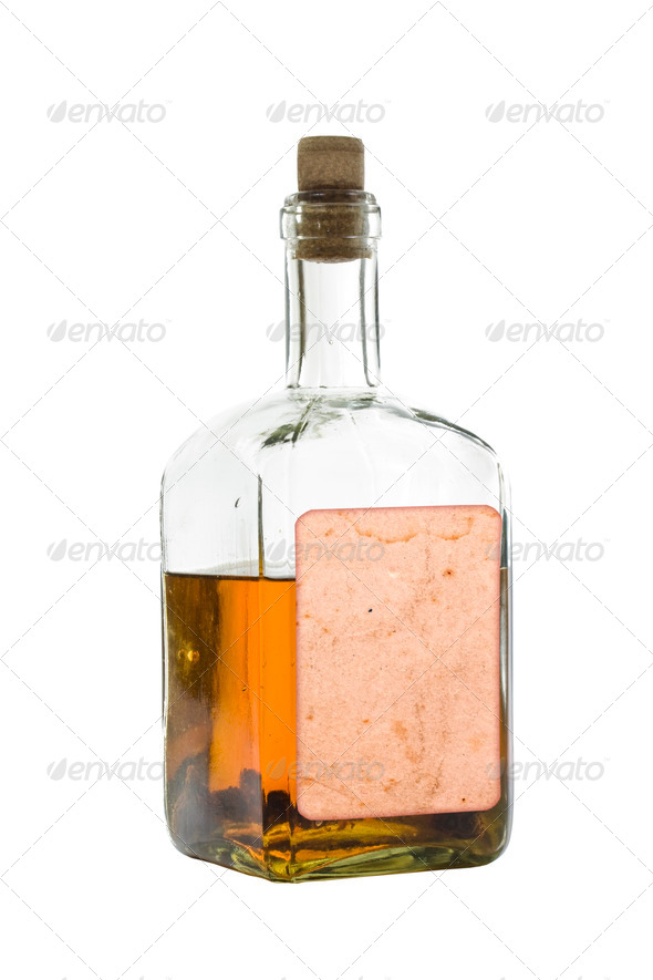 Antique bottle of spirits - Stock Photo - Images