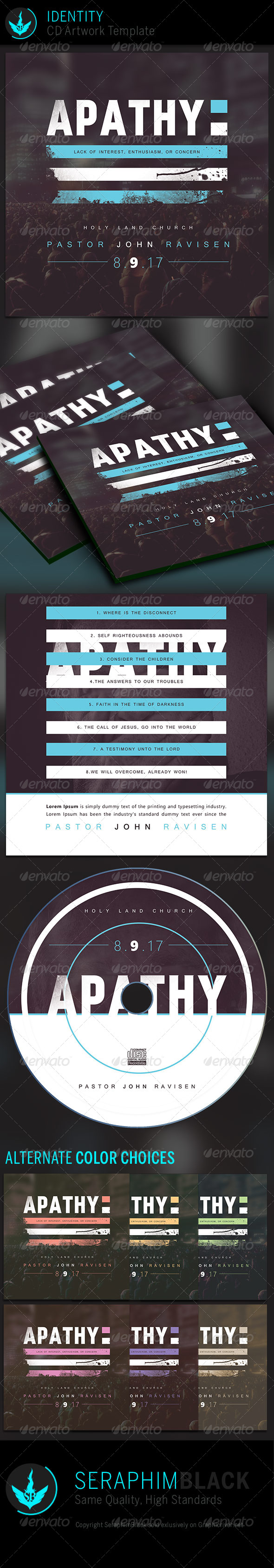 Apathy: CD Artwork Template - CD & DVD Artwork Print Templates