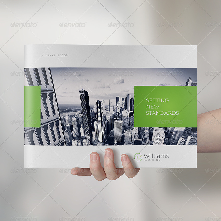 Landscape Brochure Mock-Up Set by punedesign | GraphicRiver