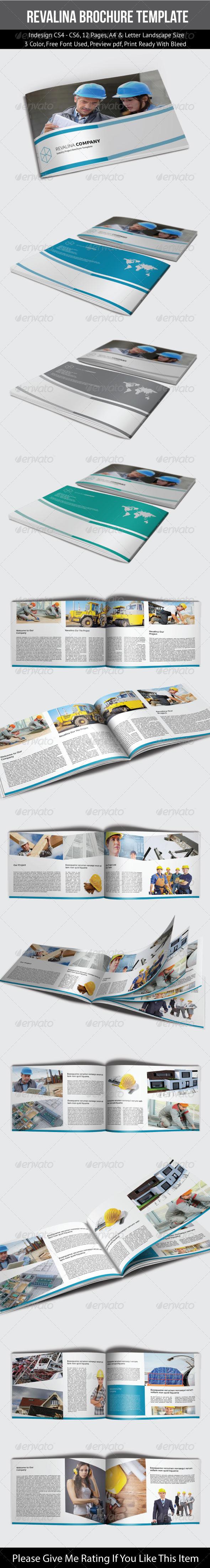 Revalina Corporate Brochure Template - Corporate Brochures