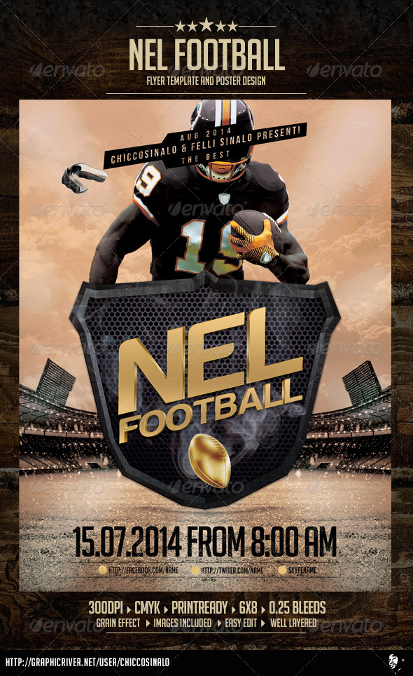 Nel Football Flyer Template - Sports Events