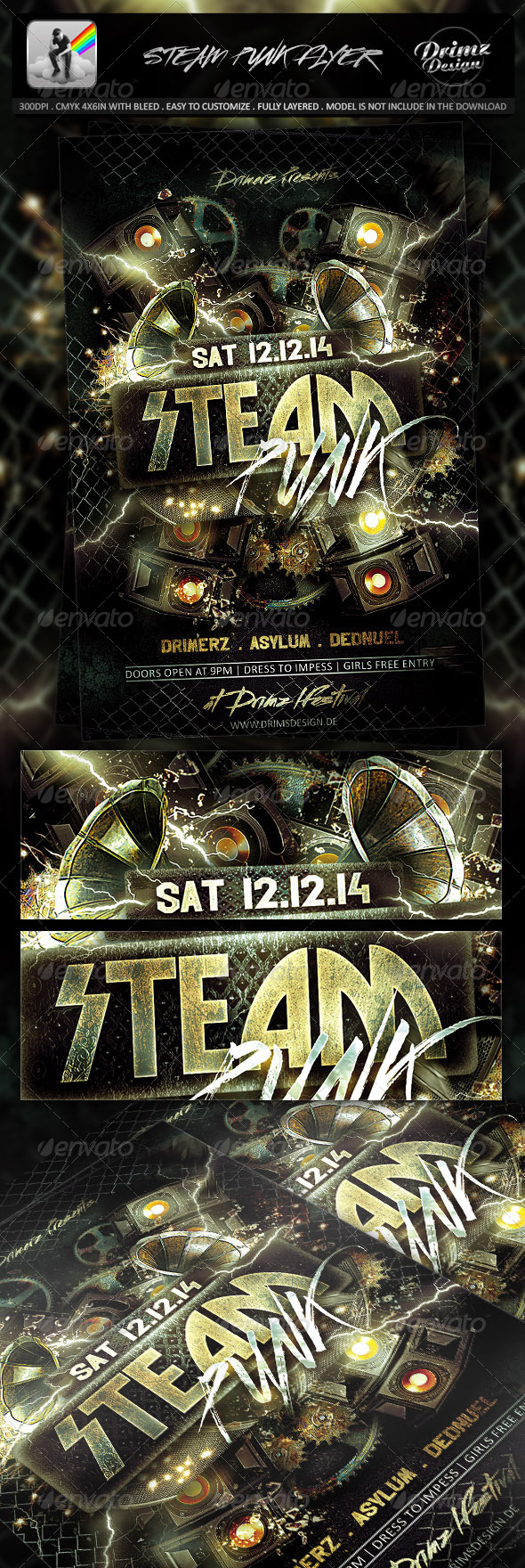 Steam Punk Flyer - Events Flyers