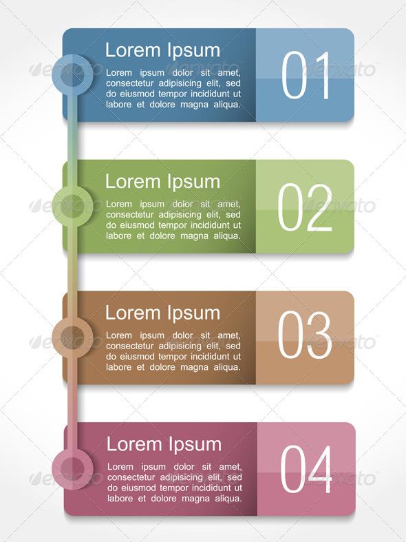 Design Template with Four Elements - Miscellaneous Vectors