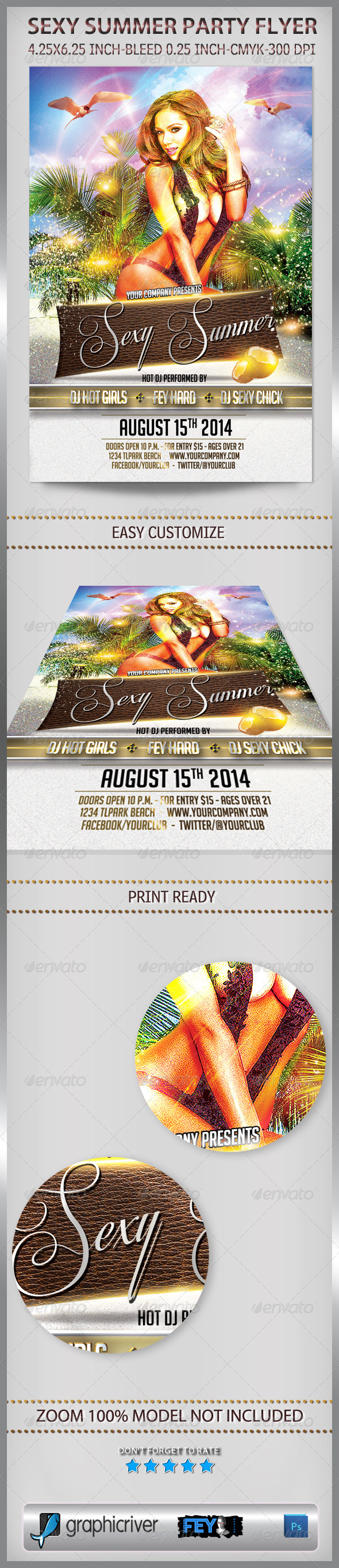 Sexy Summer Party Flyer - Events Flyers