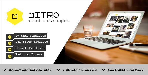Mitro - Minimal HTML Template - Portfolio Creative