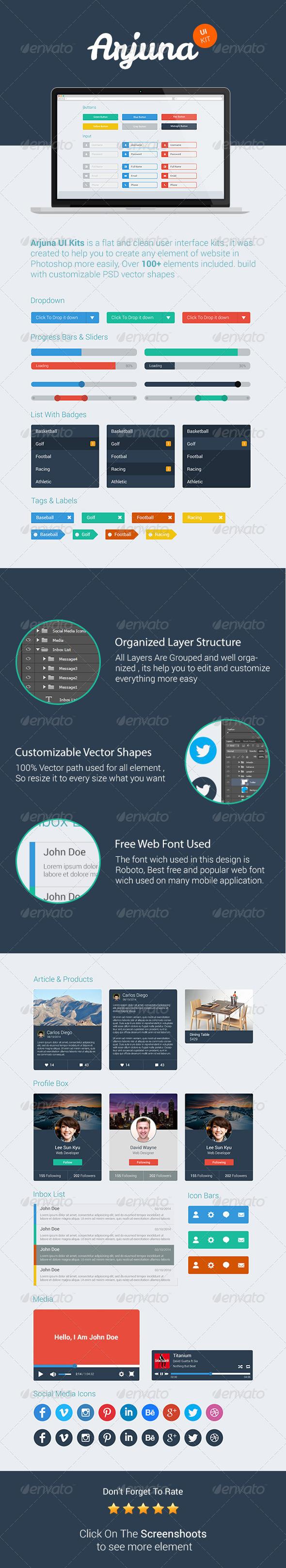 Arjuna UI Kits - User Interfaces Web Elements