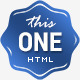 This One - One Page Responsive Website Template Nulled