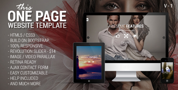 This One – One Page Responsive Website Template