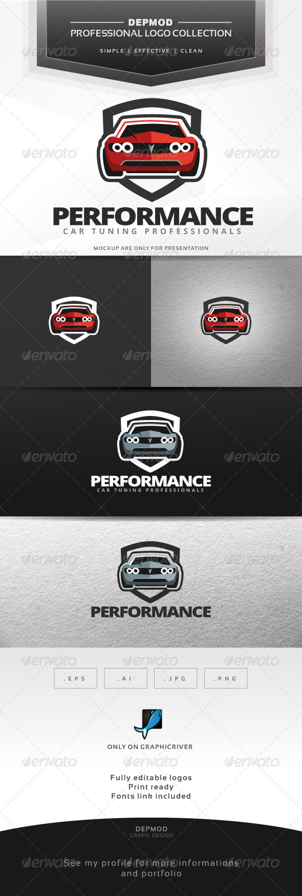 Performance Logo - Objects Logo Templates
