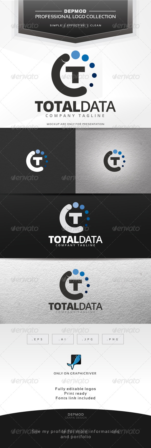 Total Data Logo - Letters Logo Templates