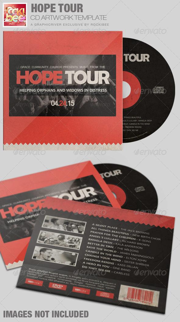 Hope Tour Charity CD Artwork Template - CD & DVD Artwork Print Templates
