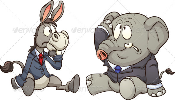 Donkey and Elephant - Animals Characters