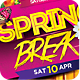 Spring Break Party Flyer Template PSD - GraphicRiver Item for Sale
