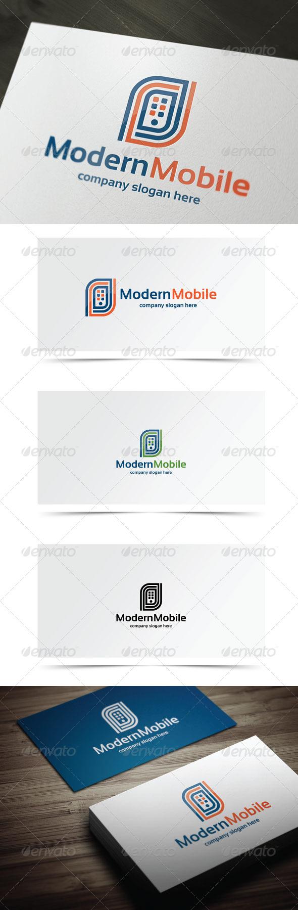 Modern Mobile - Symbols Logo Templates