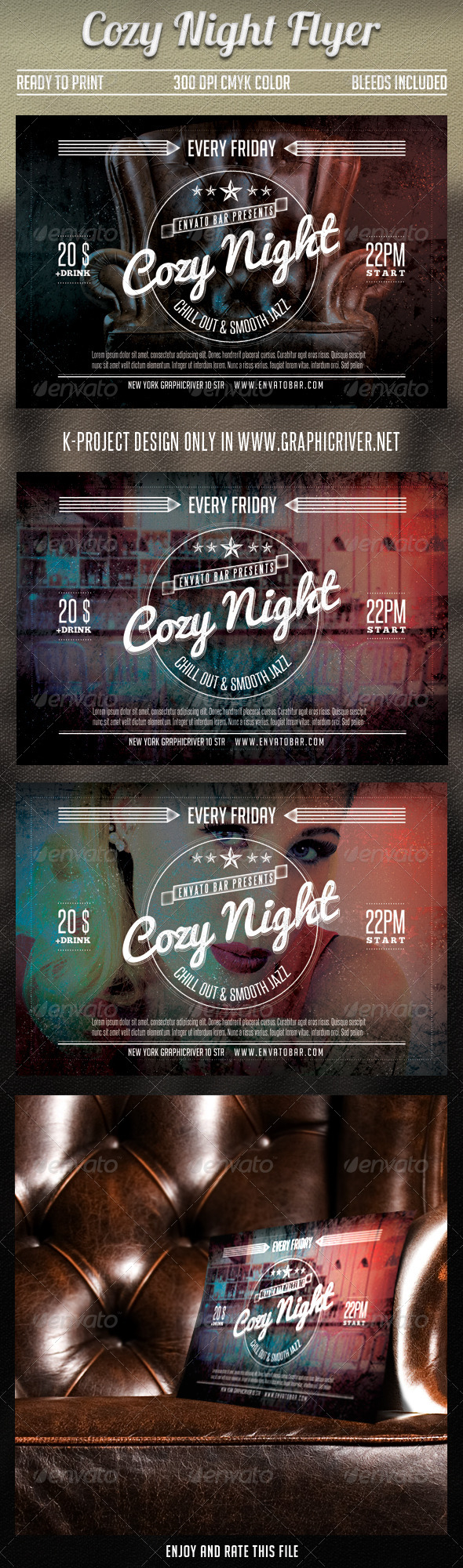 Cozy Night Flyer - Clubs & Parties Events