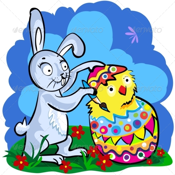 Cartoon Easter bunny - Miscellaneous Seasons/Holidays