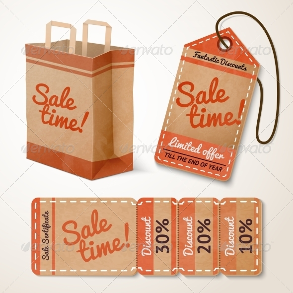 Sale items cardboard set - Retail Commercial / Shopping