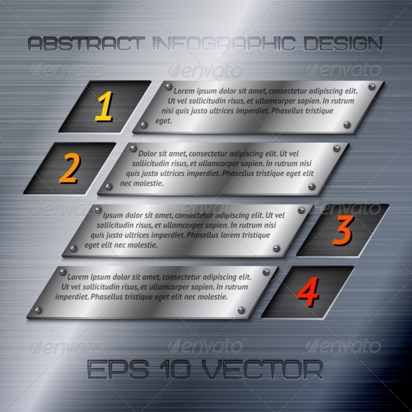 Abstract Metal Infographic Options - Borders Decorative