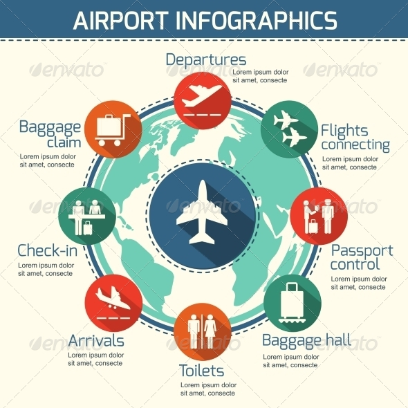 Airport Infographic Concept - Concepts Business