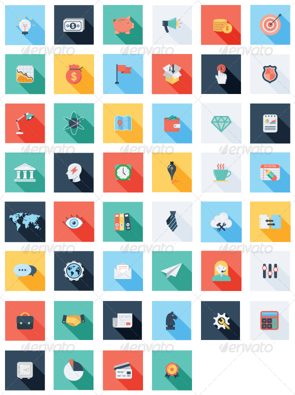 47 Business & SEO Icons Set - Business Icons