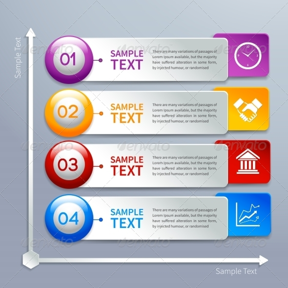Paper Infographics Template - Web Technology