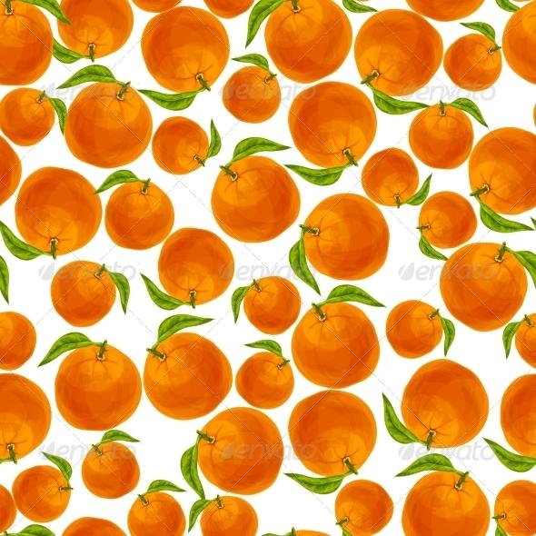 Orange Seamless Pattern - Backgrounds Decorative