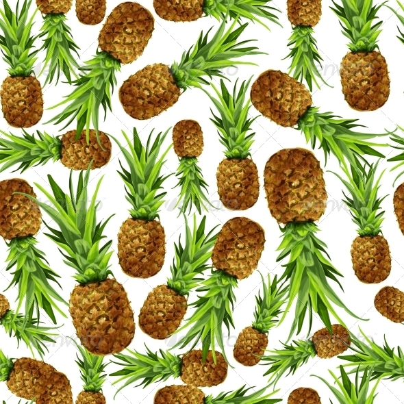 Pineapple Seamless Pattern - Backgrounds Decorative