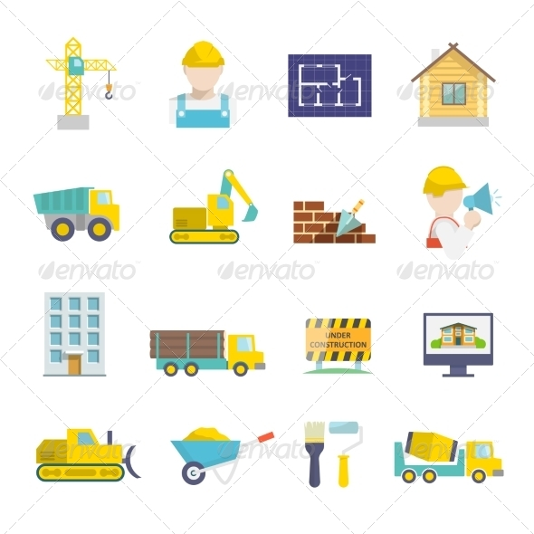 Construction Icons Set - Technology Icons