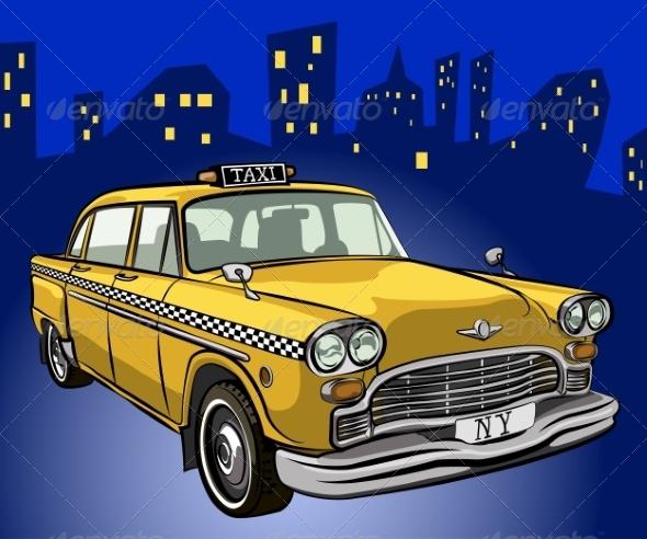Taxi Cab - Travel Conceptual