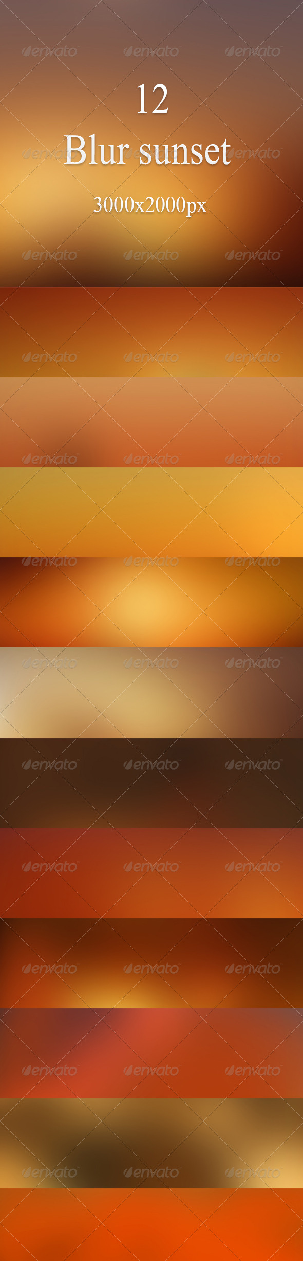 Blur sunset - Backgrounds Graphics