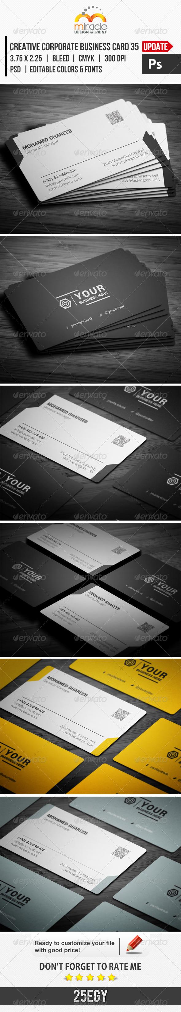 Creative Corporate Business Card 35 - Corporate Business Cards