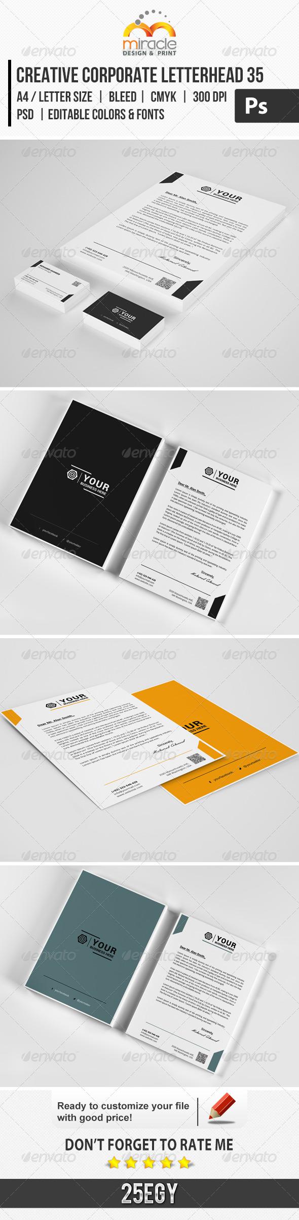 Creative Corporate Letterhead 35 - Stationery Print Templates