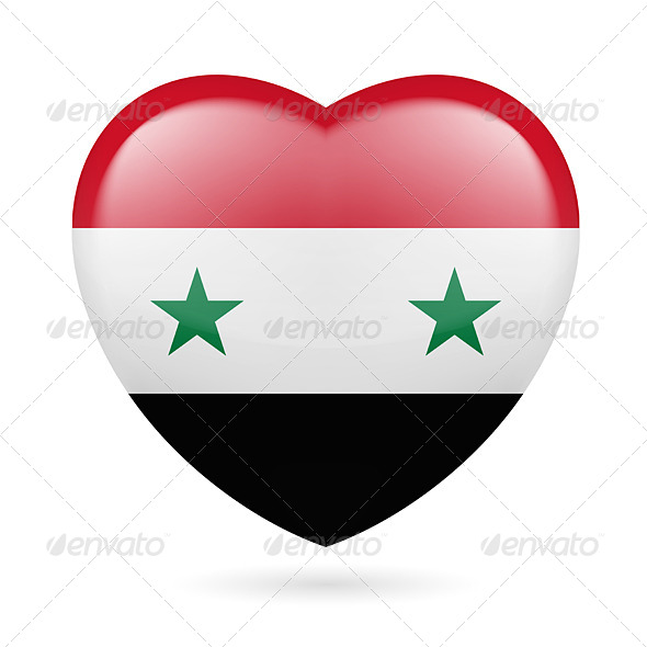 Heart Icon of Syria - Miscellaneous Vectors