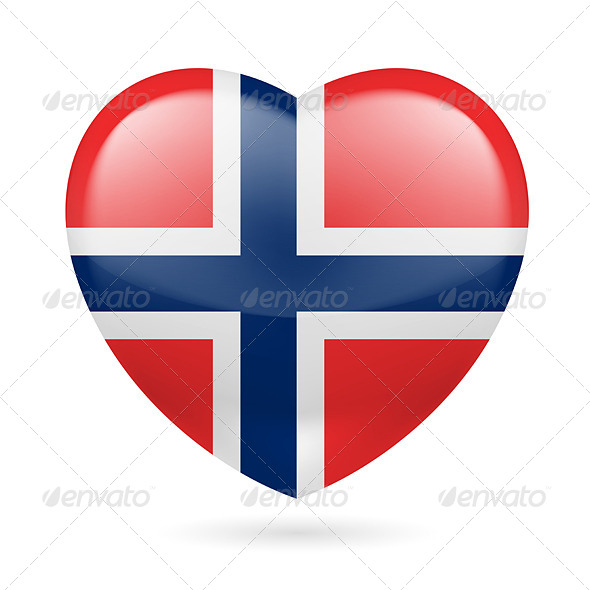 Heart icon of Norway - Miscellaneous Vectors