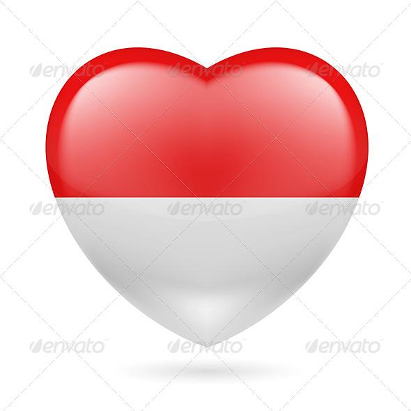 Heart Icon of Monaco - Miscellaneous Vectors