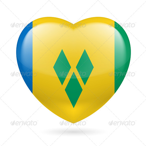 Heart icon of Saint Vincent and the Grenadines - Miscellaneous Vectors