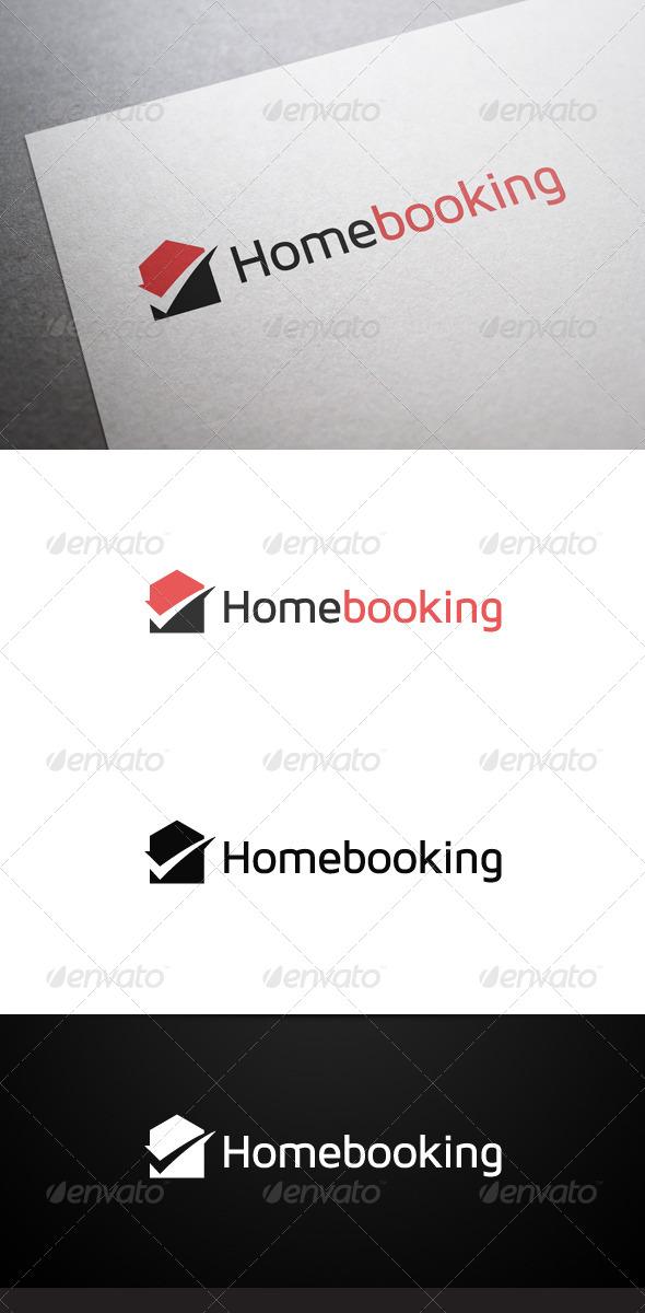 Home Booking Logo - Buildings Logo Templates