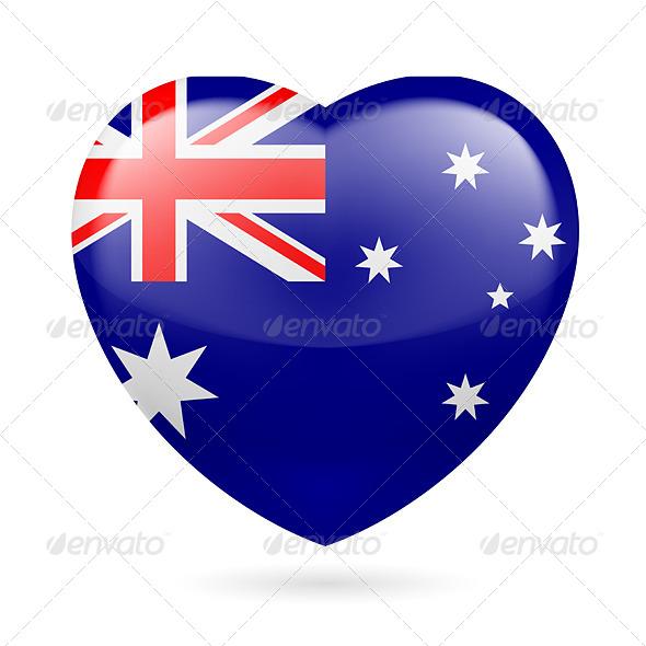 Heart Icon of Australia - Miscellaneous Vectors