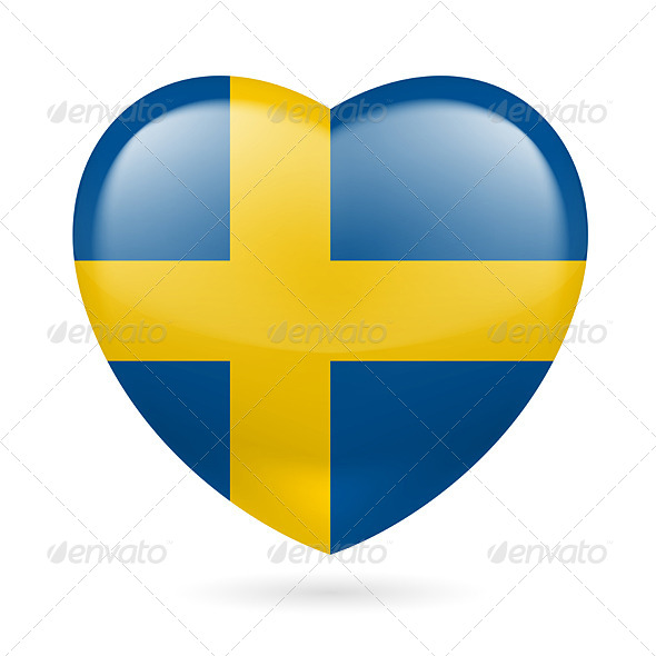 Heart Icon of Sweden - Miscellaneous Vectors