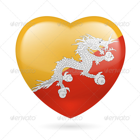 Heart Icon of Bhutan - Miscellaneous Vectors