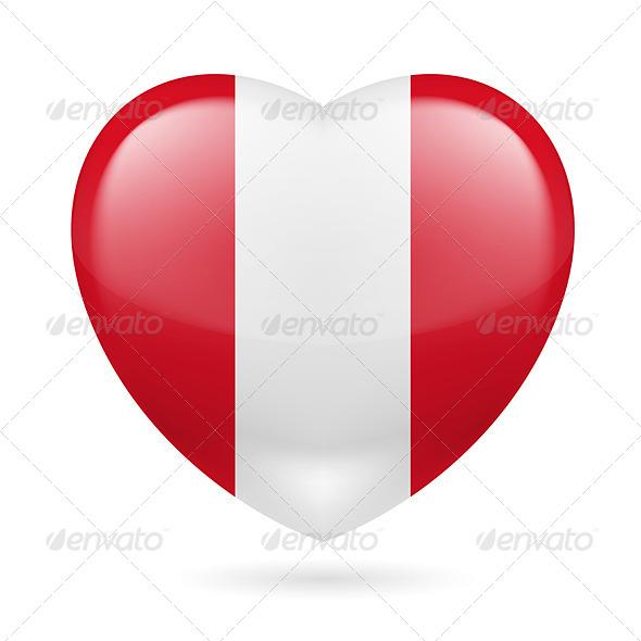 Heart icon of Peru - Miscellaneous Vectors