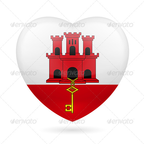 Heart icon of Gibraltar - Miscellaneous Vectors