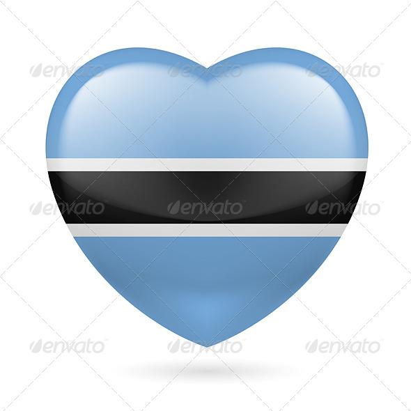 Heart icon of Botswana - Miscellaneous Vectors