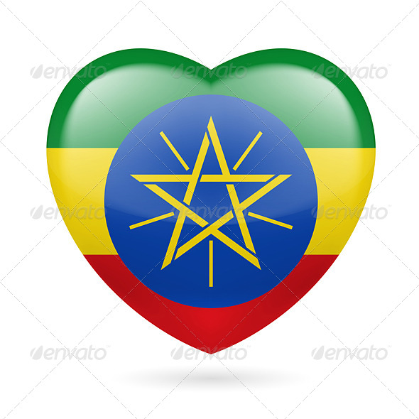 Heart Icon of Ethiopia - Miscellaneous Vectors