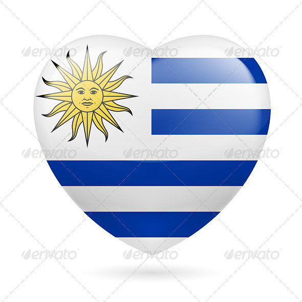 Heart icon of Uruguay - Miscellaneous Vectors